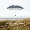 Windproof UV Folding Umbrella ร่มพับ ต้านลม 3ตอน เคลือบเงิน กันแดด กันยูวี กันฝน-เทาีเข้ม