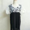 Big dress สีดำ ทรงสวย ผ้าชีฟอง แต่งผ้าแก้วช่วงอก สวยมากค่ะ มีซับครึ่งตัว อก46 เอวสะโพกทิ้งตัวทรงเอฟรีตามไซส์อก ต้นแขน30 ปลายแขน18 ยาว36