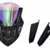 ชิวหน้า MOTOZAAA RAIJIN V3 สีดำ ชิวรุ้ง FOR HONDA CBR650F