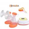 เครื่องปั๊มนม ไฟฟ้า AUDA Double electric breast pump Model AUDA 8798 (Orange) **