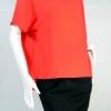 HACHI CHILLE เสื้อทรงกว้างแขนสั้นสีส้ม เนื้อผ้าออกแนวผ้าซาติน