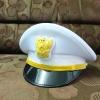 หมวกหม้อตาลชายสีขาว หน้าครุฑ (พร้อมซองหมวก)