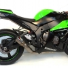 ท่อ AUSTIN RACING GP1R BLACK TIP WITH TITANIUM CAN SLIP-ON FOR KAWASAKI ZX10R (2010-2016)
