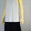 LOLITA ชุดเดรสลำลองผ้ายืดสีดำ มีเสื้อยืดสีขาวออฟไว้ท์ทับด้านนอก