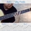 สอนกีตาร์โปร่ง พร้อมTab Intro 🎧 🎵เพลง คิดถึง - silly fools By Nick Music Gift