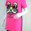 Design by Greymarket เสื้อยืดสีชมพูลายปักการ์ตูน งานเกาหลี