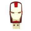 แฟลชไดร์ฟไอร่อนแมน(iron man) ความจุ 8 GB เวลาเสียบมีไฟสีฟ้าที่ตา