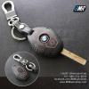 ซองหนังกุญแจ บีเอ็มดับเบิ้ลยู สีเทาเข้ม ด้ายดำ E46 E39 E60 E85