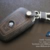 เคสกุญแจหนัง บีเอ็มดับเบิ้ลยู F series สีเทาเข้ม ด้ายดำ