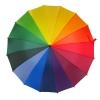 Rainbow UV Cut Walking Umbrella ร่มยาว กันแดด กันยูวี กันฝน 16 ก้าน สายรุ้ง16สี