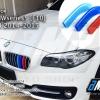 แถบสี M ติดกระจังหน้า BMW series5 F10 F11