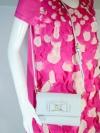 LYN AROUND กระเป๋าสะพาย/หนัง PU BAG/BELMONT สีเทาฟ้า
