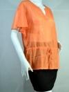 WACOAL Blouse เสื้อสีส้มผ้าซีทรู ใส่ลำลอง