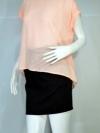 FOREVER21 เสื้อผ้าชีฟองผ่าหลัง มีซับใน สีส้มโอโรส