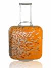 IPSA กระเป๋าเดินทางล้อลากสีเหลืองลาย illuminating ชนิดแข็ง ขนาด 16 นิ้ว ซิบรูดพร้อมล็อคแบบใช้รหัส ผลิตจากวัสดุคุณภาพดี