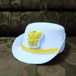 หมวกหม้อตาลหญิงสีขาว หน้าครุฑ (พร้อมซองหมวก)