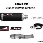 ท่อ DEVIL EVOLUTION รุ่น 2004SC SLIP-ON FOR HONDA CBR500 (2013UP)