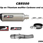 ท่อ DEVIL EVOLUTION รุ่น 2004S SLIP-ON FOR HONDA CBR500 (2013UP)