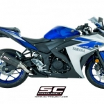 ท่อ SC PROJECT OVAL Silencer Fullsystem for Yamaha R3 - MT-03