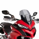 ชิว Puig ทรง Racing สีสโม้ค สำหรับ Ducati Multistrada 1200 (2015)