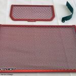 การ์ดหม้อน้ำ CoxRacing สีแดง สำหรับ Ducati Multistrada 1200 (2015)
