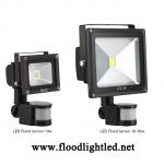 LED Flood Light Sensor 10w EVE แสงวอร์มไวท์ (แสงสีส้ม)