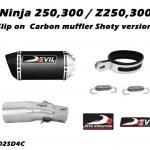 ท่อ DEVIL EVOLUTION รุ่น 1002SD4C SLIP-ON FOR KAWASAKI NINJA250-300/Z250 (2013UP)
