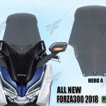 ชิวหน้า HERO V4 FOR HONDA FORZA300 2018