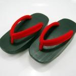 Fit Geta-12 รองเท้าเกี๊ยะไม้ดำ เชือกแดง