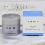 Laneige Time Freeze Firming Sleeping Mask 10ml. Sleeping Mask ที่ดีที่สุดของลาเนจ เพื่อตอบโจทย์ปัญหาผิวที่สูญเสียความกระชับ หย่อนคล้อย ให้กลับมาตึงกระชับ รูปหน้าคมชัดถึงขีดสุด! เพราะค่ำคืนคือช่วงเวลาที่ดีที่สุดสำหรับการฟื้นฟูผิว