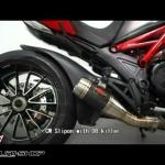 Arrow Slip Dark-Carbon ตรงรุ่นสำหรับ Ducati Diavel