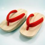 Fit Geta-03 รองเท้าเกี๊ยะไม้ธรรมชาติเชือกส้ม
