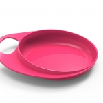 Nuvita - EasyEating Dish จานพร้อมที่จับถนัดมือ สีชมพู