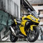 งานทำสี KAWASAKI NINJA300 สีเหลือง