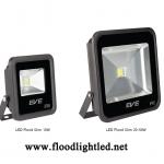LED Flood Light Slim 10w EVE แสงวอร์มไวท์ (แสงสีส้ม)
