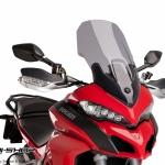 ชิว Puig ทรง Touring สีสโม้ค สำหรับ Ducati Multistrada 1200 (2015)