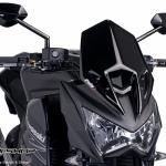 ชิวหน้า Puig Z800 สีดำ