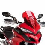 ชิว Puig ทรง Racing สีแดง สำหรับ Multistrada 1200 (2015)