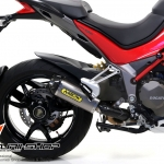 Arrow titanuim slip on werk สำหรับ Ducati Multistrada 1200