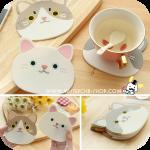 Cat Coasters ซิลิโคนวางแก้ว น้องเหมียว