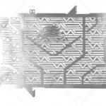 การ์ดหม้อน้ำ LEON สีเงิน FOR HONDA CB650F/CBR650F