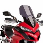 ชิว Puig ทรง Touring สีสโม้คดำ สำหรับ Ducati Multistrada 1200 (2015)