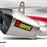 ท่อ AKRAPOVIC SHORTY SLIP-ON FOR KAWASAKI ZX10