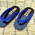 SUGOI-08 รองเท้าเกี๊ยะไม้ดำเชือกน้ำเงิน