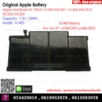 Original Battery A1405 7.3V / 50Wh For Apple MacBookAir 13Inch A1369 Mid 2011 A1466 Mid 2012 MC503 MC504