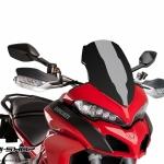 ชิว Puig ทรง Racing สีดำ สำหรับ Ducati Multistrada 1200 (2015)