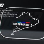 สติ๊กเกอร์ Nurburgring สีขาว