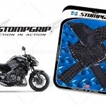 สติ๊กเกอร์กันรอยข้างถัง STORM GRIP ดำ FOR KAWASAKI Z900