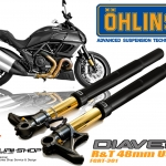 โช้ค Ohlin หน้า 47mm ตรงรุ่นสำหรับ Ducati Diavel