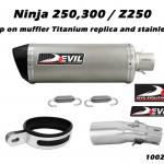 ท่อ DEVIL EVOLUTION รุ่น 1002S SLIP-ON FOR KAWASAKI NINJA250-300/Z250 (2013UP)
